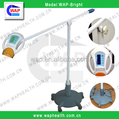 WAP-health factory promotion Touch buttorn teeth whitening machine tooth bleaching system red & blue LED light