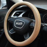 4-Spoke Wheel Type and PU,leather,PVC Material car steering wheel cover for Audi