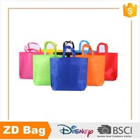 BSCI factory sale resuable custom logo colorful tnt pp nonwoven shopping bag