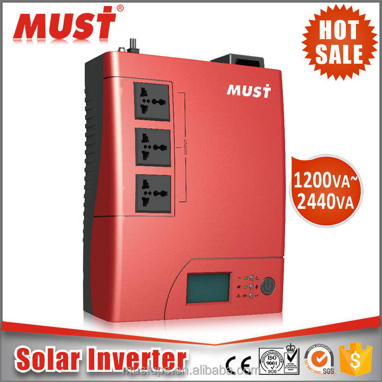 dc dc converter 12v 24v 1200VA 2400VA Solar Inverter Power System with 50A Battery Charger