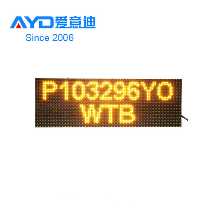 Hot Sale <strong>Amber</strong> Color Welcome Aluminum Profile for <strong>P10</strong> LED Moving Sign