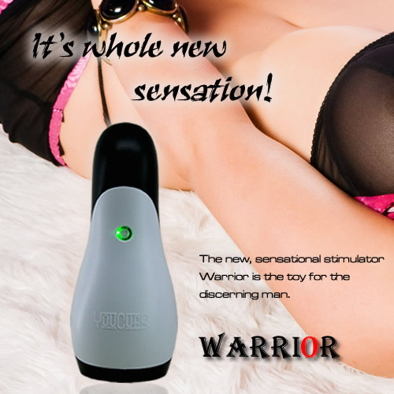 12 Modes Warrior Sleeve Vibrating Electric Male Masturbator Tight Wave Beads Massager Man Sex Toys