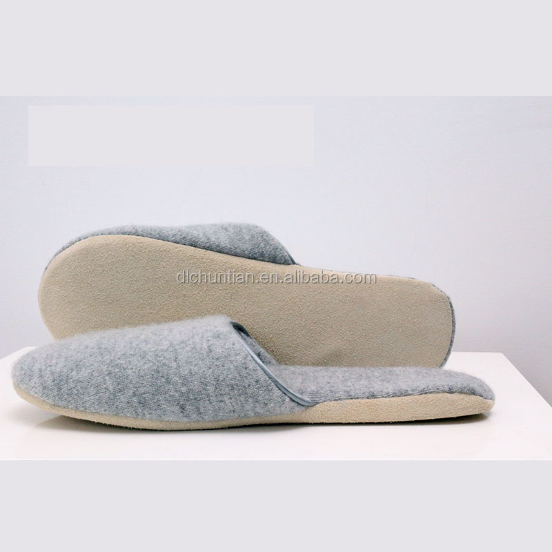 cashmere slipper with high quality winter fashion indoor extended size ,Hot sell high quality mens indoor cashmere slippers