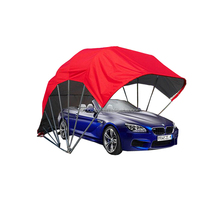 red folding cheap mobile carport