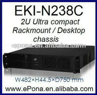 2U Compact Server case, Rackmount Chassis, industrial PC case EKI-N238C