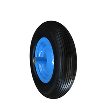 Pu polyurethane foam tire 400-8 solid rubber wheels