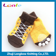 Lanle sock manufacturer stock sock cute dog anti-slip socks shoe boots