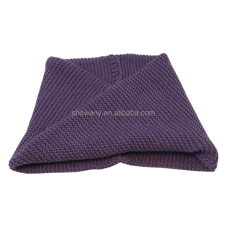 2016 kids winter knitted neck warmer & hat