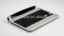 Slim Aluminum Wireless Bluetooth Keyboard Case for iPad Mini