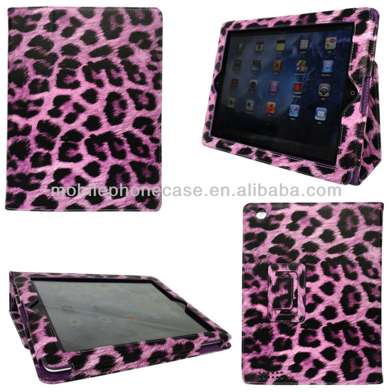 Luxury Shockproof Leather Cover Custom Flip Tablet Case For iPad 2/3/4