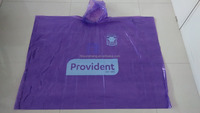 YunShang PE Disposable Semitransparent Emergency Purple Poncho