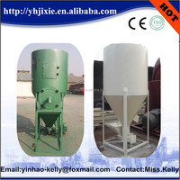 Automatic suction animal poultry feed mixer with Grain mill , animal feed mixing machine