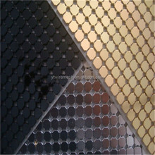 Fashion Design Shiny Aluminum Sequins Fabric Mesh Cloth