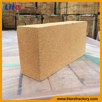 Good thermal shock resistant long service life fire clay insulating brick for cement kiln