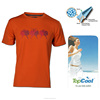 Custom Breathable Permanent Dry Fit Men's Orange Casual T shirt