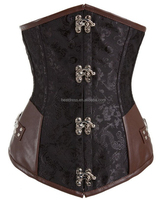 Full Steel Boned SteamPunk Underbust Waist Training Corset