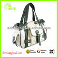 high quality canvas tote bag with outside pockets