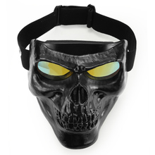 Retro Balaclavas Face Motorcycle Mask Half Helmet Modular Detachable Goggles