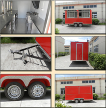 2017 electric stainless steel mobile food trailer service cart with wheels