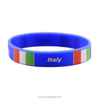 country flags silicone bracelet italian rubber bracelets