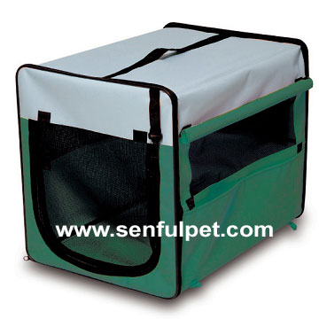 Durable Dog Kennel/Foldable House Carrier Soft Crate Cage