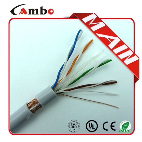 china supplier sftp cat6 cable /copper scrap PVC cable 305M/Roll