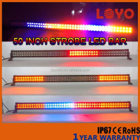 new products offroad spot 288w 50'' curved led light bar car strobe flash led light