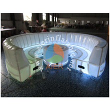 Factory direct sale led light circular seal inflatable furniture sofa guangzhou for sale