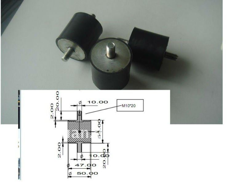 Vibration absorber with M8 screw and M8 nut