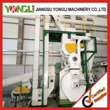 YongLi 24H working Olive Pine wood logs pellet line