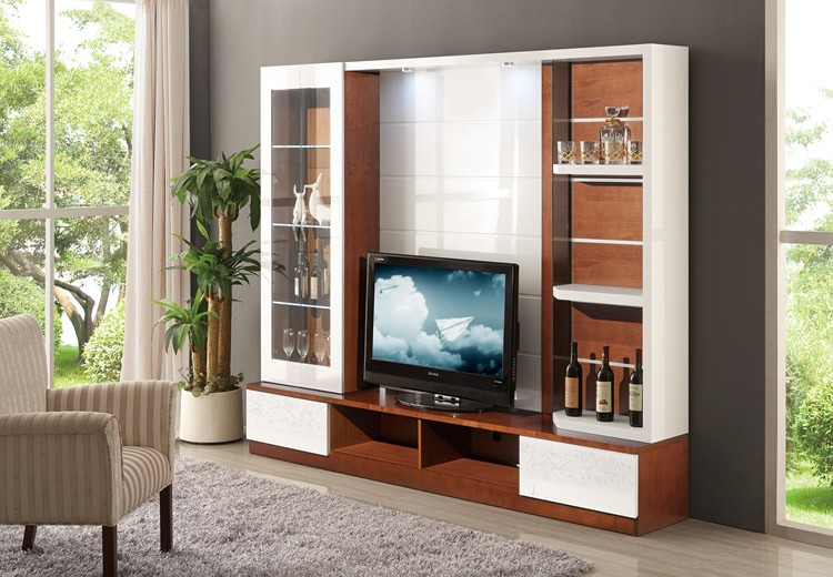 Living Room Furniture Lcd Tv Stand Wooden Furniture Tv