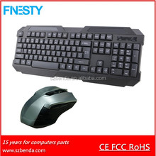 2016 new slim high-tech 2.4G wireless mouse and keyboard,wireless keyboard & mouse