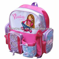 School Bag With Lovely Girl Picture