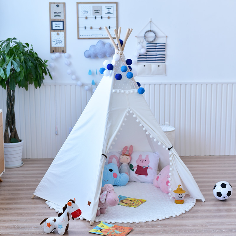 Kids play tent house cotton teepee Indian indoor tent