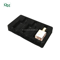 pvc cosmetic clamshell packaging flocking plastic blister tray