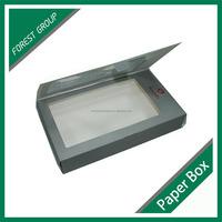 HIGH QUALITY CUSTOM DESIGN CARDBOARD PACKING BOX DECORATIVE CRAFT BOX WITH PVC WINDOW