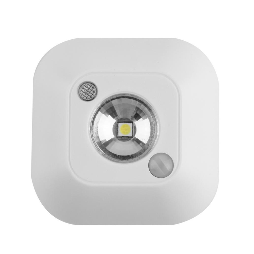 1 pc Popular New Mini Wireless Infrared Motion Sensor Ceiling Night Light Battery Powered Porch Lamp Free Shipping