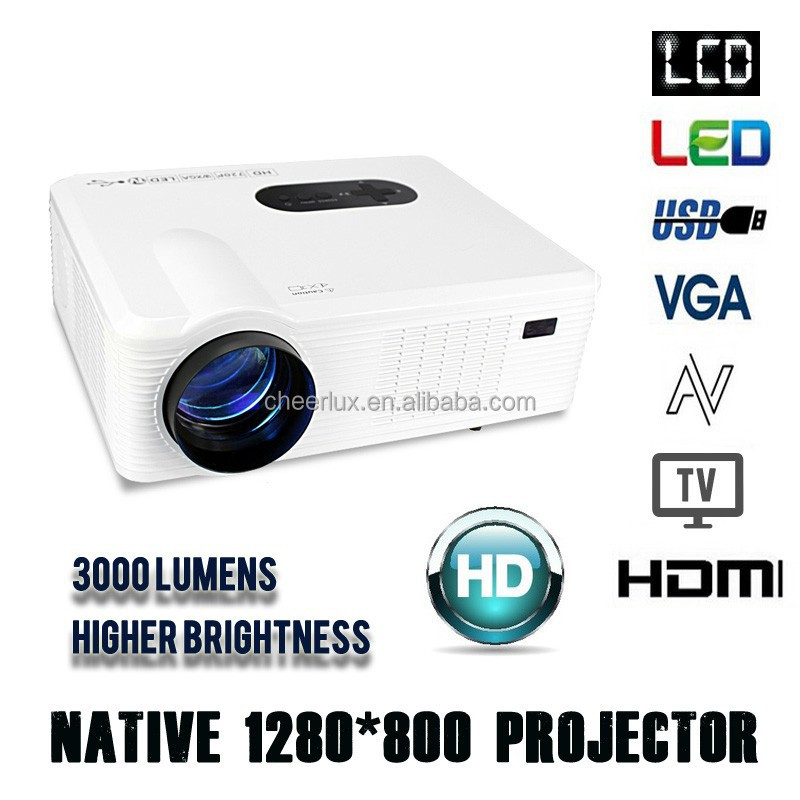 Mini portable video projector cl720 cheerlux full hd 1080p for Mini portable video projector