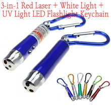 Cheap 3 in 1 keychain led flashlight wholesale