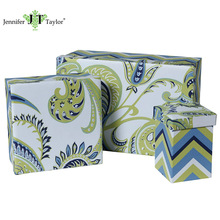 Beautiful design home decor fabric gift box, home storage box