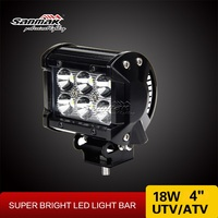 18W CREE offroad ATV UTV motorcycle led light bar Jeep headlight