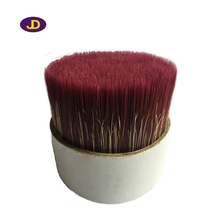 red mixture white bristles with tapered filaments for paint brush