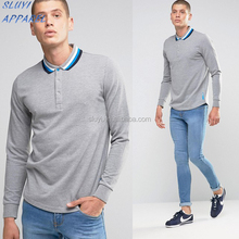 Italia Knitted Long Sleeve Polo Shirt for men low MOQ golf polo shirt Clothing Manufacturer free sample polo shirt