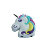 soft PVC cute unicorn shape 1 to 2 ways 2 jacks earphone headphone splitter with cup dc3.5mm connector