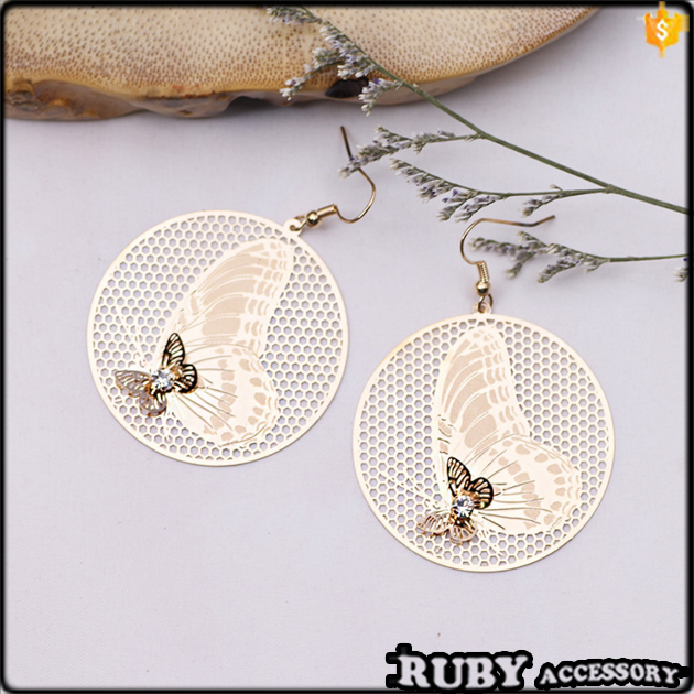 Wholesale European Fashion Jewelry pro-environment copper Computer chip Butterfly women earrings