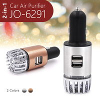 2018 New Trending Christmas Items wholesale (2-in-1 Car Charger Mini Car Ionized Air Purifier JO-6291)