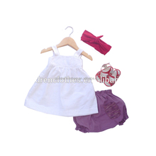 Kids Clothing Chinese Wholesale Summer Clothes Soft Cotton Children Outfits Three Pieces Set