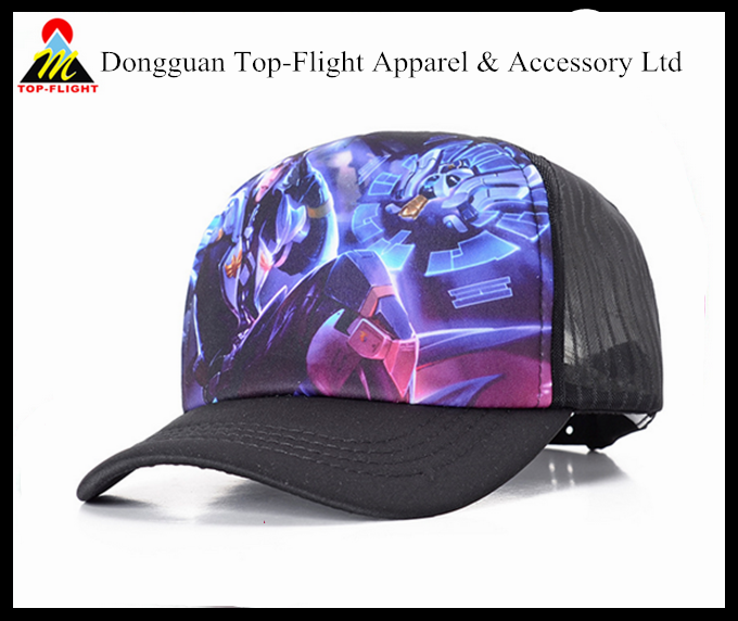 Wholesale custom High Quality mesh curved bill embroidery patch trucker cap