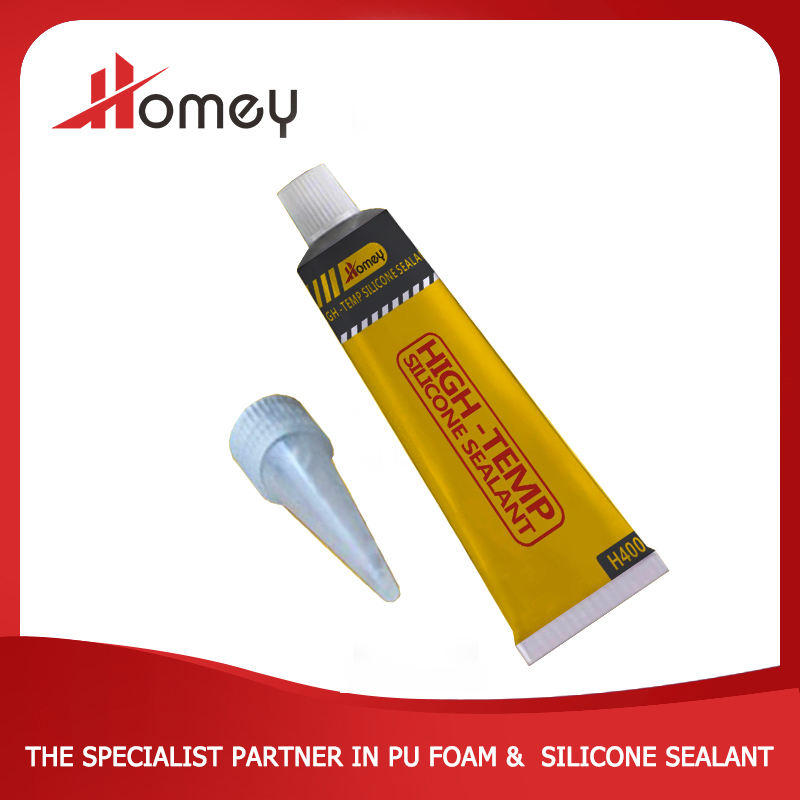Homey H400 high-temp one part excellant flexible waterproof heat silicone sealant
