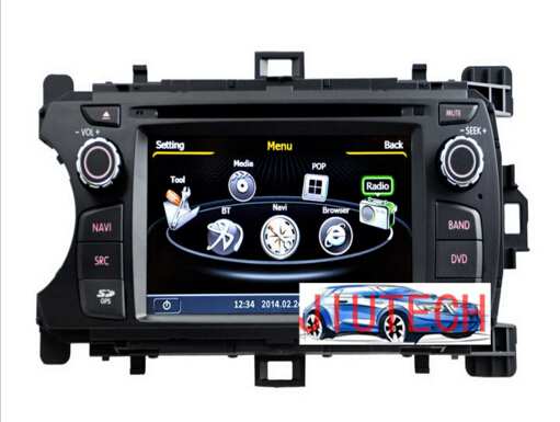 Autoradio for To-yota Yaris 2012+ Stereo GPS Navigation Satnav Headunit Multimedia DVD,to-yota yaris gps navigation system